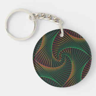 Twisted - Green and Red Key Ring