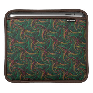 Twisted - Green & Red iPad Sleeve