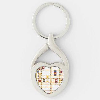 Twisted Heart Metal Keychain