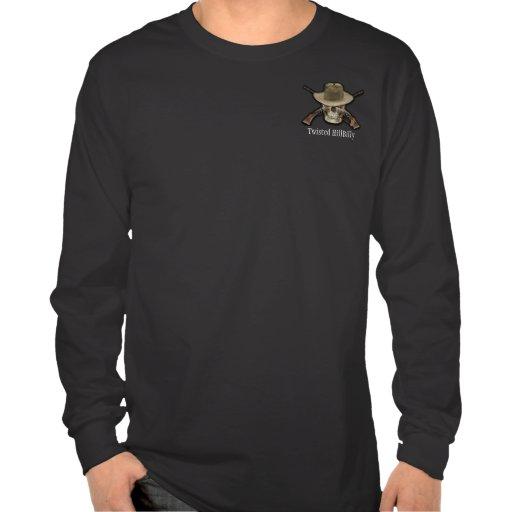 Twisted Hillbilly Long Sleeve Black Tshirts