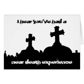 Twisted humor cemetery silhouette birthday card
