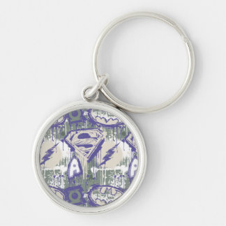 Twisted Innocence Pattern Silver-Colored Round Key Ring