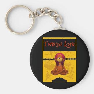 Twisted Logic Meditate Key Ring