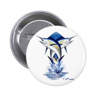 Twisted Marlins Jumping Pinback Buttons