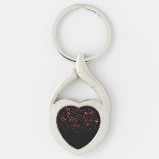 Twisted Metal Heart Keychain w/Hot Embers Inside