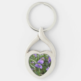 Twisted Metal Rainy Violets Keychain, 4 Shapes Key Ring