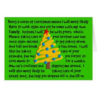 Twisted Nurse Christmas Card Hilarious