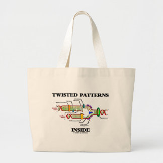 Twisted Patterns Inside (DNA Replication Humor) Canvas Bags