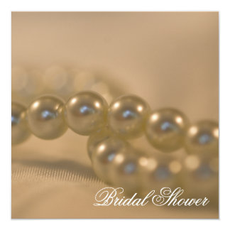 Twisted Pearls Bridal Shower Invitation