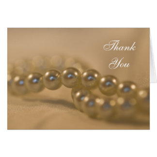 Twisted Pearls Bridesmaid Thank You Card