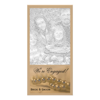 Twisted Pearls Engagement Announcement Card