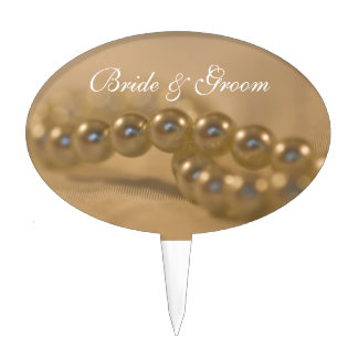 Twisted Pearls Wedding Cake Pick