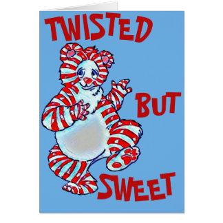 Twisted Peppermint Polar Bear Card