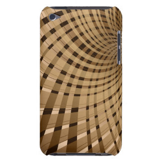 Twisted Plaid Brown Barely There iPod Cases