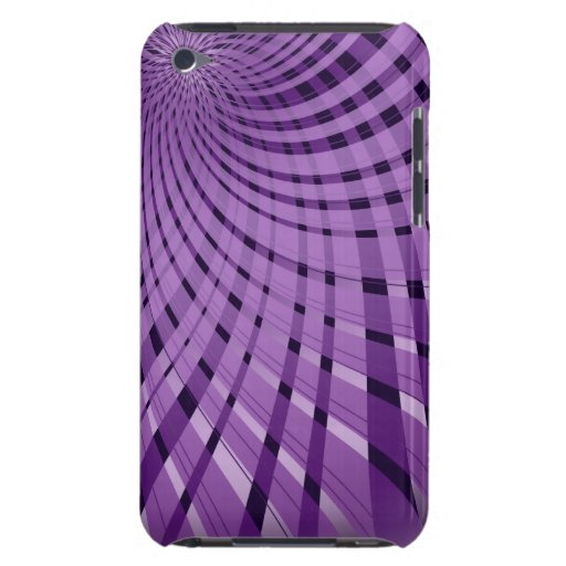 Twisted Plaid Purple iPod Touch Cases
