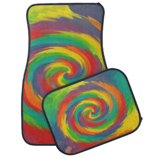 Twisted Rainbow Car Mat