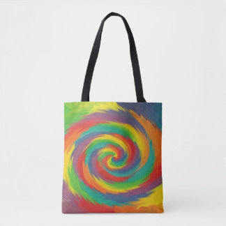 Twisted Rainbow Tote Bag