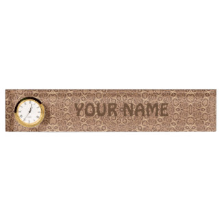 Twisted Rope Desk Nameplate with Clock