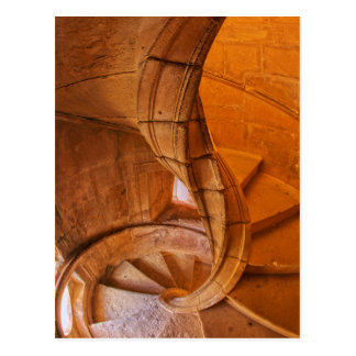 Twisted Spiral Staircase, Portugal Postcard