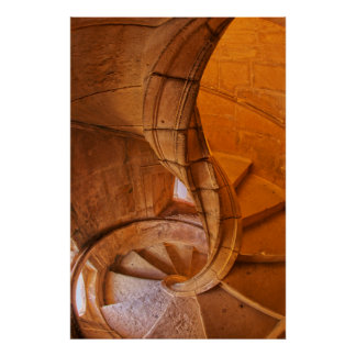 Twisted Spiral Staircase, Portugal Poster