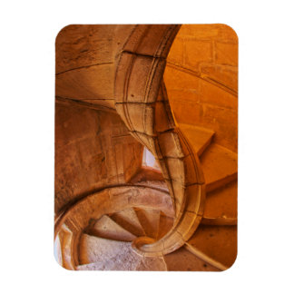 Twisted Spiral Staircase, Portugal Rectangular Photo Magnet