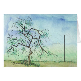Twisted Tree with 3 Antennas Card