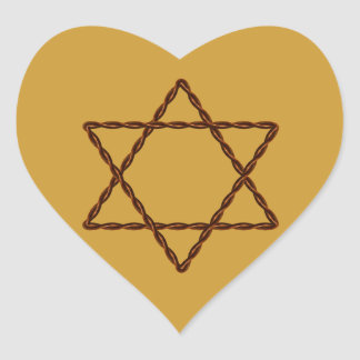 Twisted Wire Star of David Heart Sticker