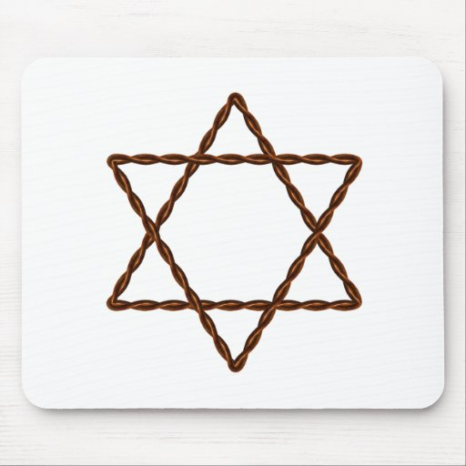 Twisted Wire Star of David Mousepads