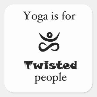 Twisted Yoga Square Sticker