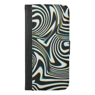 Twisted zebra stripes pattern 3d glass effect