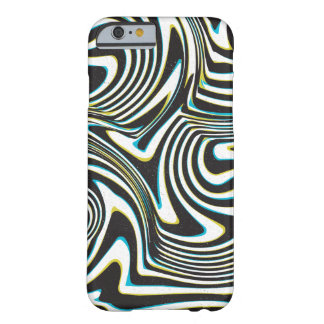 "Twisted zebra stripes pattern ""3d glass effect"" barely there iPhone 6 case"