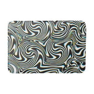 "Twisted zebra stripes pattern ""3d glass effect"" bath mats"