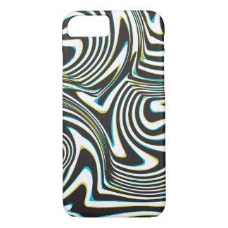 "Twisted zebra stripes pattern ""3d glass effect"" iPhone 7 case"