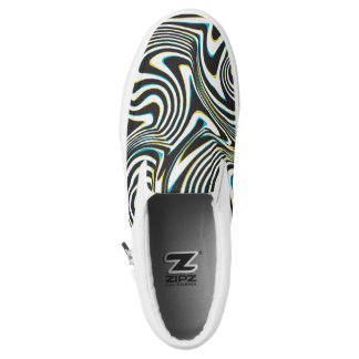 "Twisted zebra stripes pattern ""3D glass effect"" Printed Shoes"