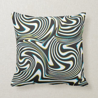 "Twisted zebra stripes pattern ""3D glass effect"" Throw Cushion"
