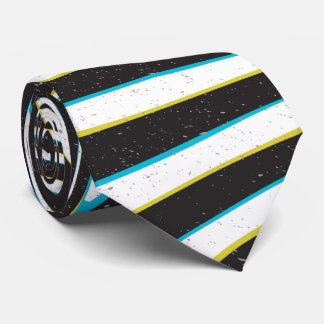 "Twisted zebra stripes pattern ""3D glass effect"" Tie"