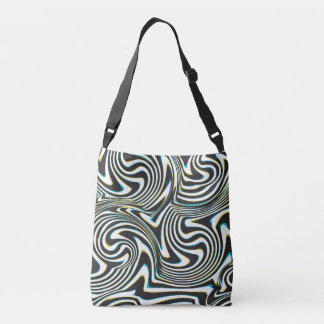 "Twisted zebra stripes pattern ""3D glass effect"" Tote Bag"