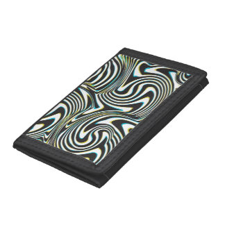 "Twisted zebra stripes pattern ""3D glass effect"" Tri-fold Wallet"