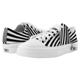 Twisted Zebra Stripes Printed Shoes