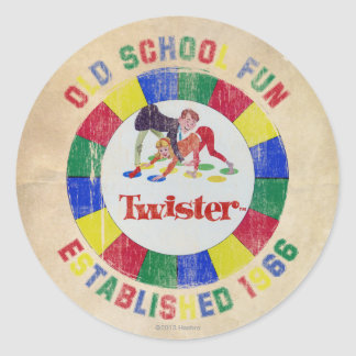 Twister Badge Classic Round Sticker