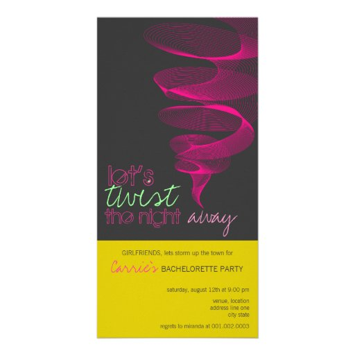 Twister | Fuchsia Bachelorette Invite Photo Card Custom Photo Card