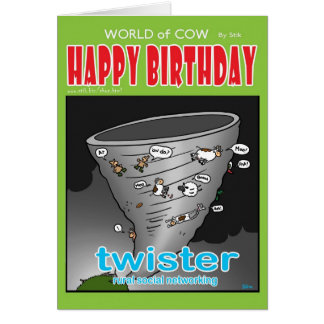twister. Rural social networking. Card