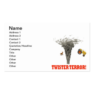 Twister Terror Double-Sided Standard Business Cards (Pack Of 100)