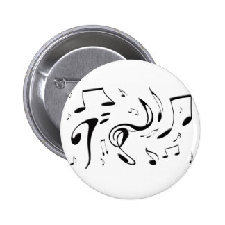 Twisting Musical Notes Button