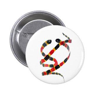 Twisting Snake Art 6 Cm Round Badge