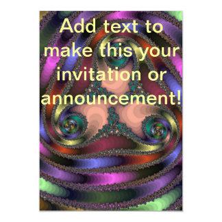 Twisty Chrome Color Abstract 13 Cm X 18 Cm Invitation Card