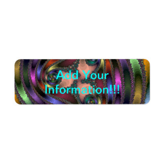 Twisty Chrome Color Abstract Return Address Label
