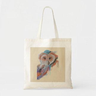 """Twit Twoo"" Colourful Owl Raglan T- Shirt Tote Bag"