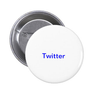 Twitter 6 Cm Round Badge