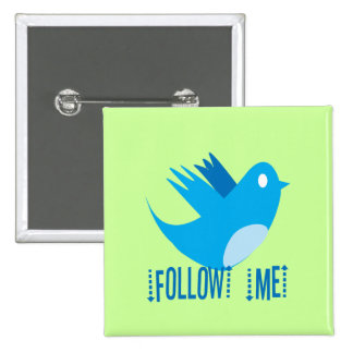 Twitter Bird Follow Me- Choose Background Color Pin